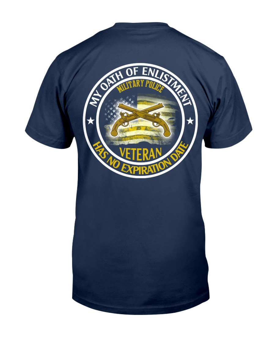 Military Police Oath Of Enlistment Classic T-Shirt