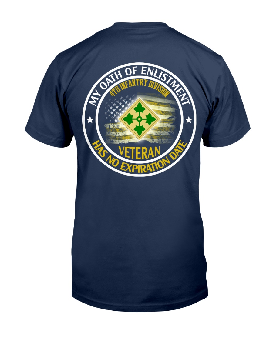 4th Infantry Division Oath Of Enlistment 2 Classic T-Shirt