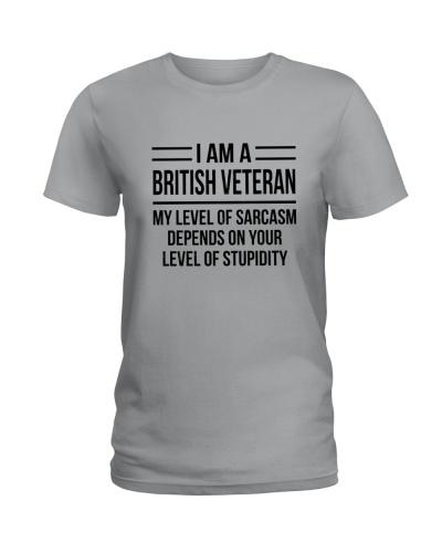 BRITISH VETERAN - LEVEL OF SARCASM