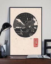 Death Stranding inspired Lino Print Koko Black 11x17 Poster lifestyle-poster-2
