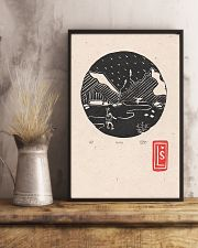 Death Stranding inspired Lino Print Koko Black 11x17 Poster lifestyle-poster-3