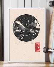 Death Stranding inspired Lino Print Koko Black 11x17 Poster lifestyle-poster-4