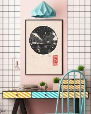 Death Stranding inspired Lino Print Koko Black 11x17 Poster lifestyle-poster-6