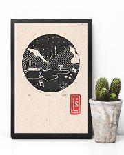 Death Stranding inspired Lino Print Koko Black 11x17 Poster lifestyle-poster-8