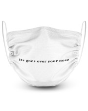 its goes over your nose 2 Layer Face Mask - Single front