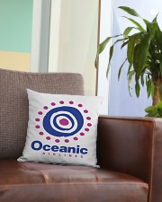 Oceanic-Airlines Square Pillowcase aos-pillow-square-front-lifestyle-03