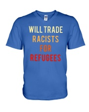 WILL TRADE RACISTS FOR REFUGEES V-Neck T-Shirt thumbnail