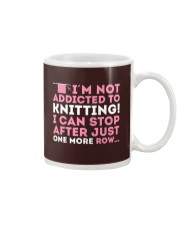 Knitter I Am Not Addictict To Knitting Mug thumbnail