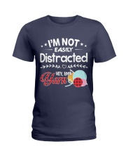 Not Easily Distracted Hey Look Yarn Ladies T-Shirt thumbnail