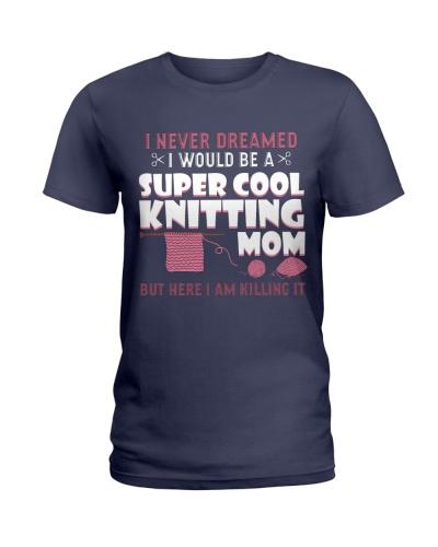 Knitter Super Cool Knitting Mom