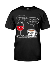 She Loves Wine More Classic T-Shirt thumbnail