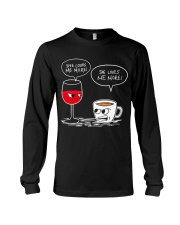 She Loves Wine More Long Sleeve Tee thumbnail
