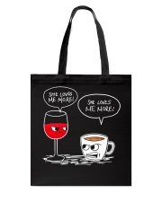 She Loves Wine More Tote Bag thumbnail