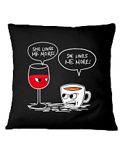 She Loves Wine More Square Pillowcase thumbnail