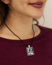This Girl With A Big Rod Cord Rectangle Necklace aos-necklace-square-cord-lifestyle-1