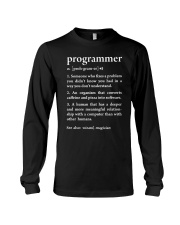 Funny Programmer Definition Long Sleeve Tee thumbnail