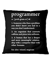 Funny Programmer Definition Square Pillowcase thumbnail