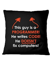 This Guy Is A Programmer Square Pillowcase thumbnail