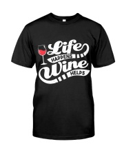 Life Happens Wine Classic T-Shirt tile