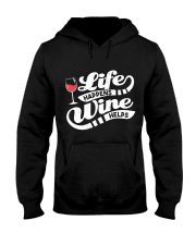 Life Happens Wine Hooded Sweatshirt thumbnail
