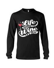 Life Happens Wine Long Sleeve Tee thumbnail