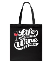 Life Happens Wine Tote Bag thumbnail