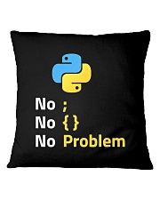 I Am A Python Programmer Square Pillowcase thumbnail