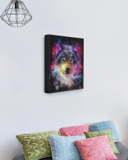 Beautiful Colorful Wolf 11x14 Gallery Wrapped Canvas Prints aos-canvas-pgw-11x14-lifestyle-front-02