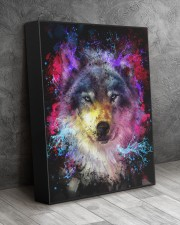 Beautiful Colorful Wolf 11x14 Gallery Wrapped Canvas Prints aos-canvas-pgw-11x14-lifestyle-front-08