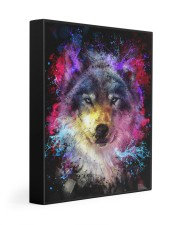 Beautiful Colorful Wolf 11x14 Gallery Wrapped Canvas Prints front