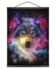 Beautiful Colorful Wolf 12x16 Black Hanging Canvas thumbnail