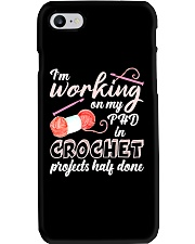 I'm Working On My PHD In Crochet Phone Case thumbnail