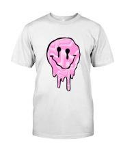 Pink Melting Smiley Face Classic T-Shirt thumbnail