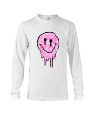 Pink Melting Smiley Face Long Sleeve Tee thumbnail