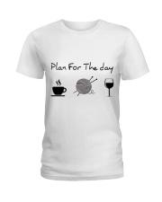 Plan For The Day Knitting Ladies T-Shirt thumbnail