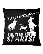 Team Roping T-Shirt Square Pillowcase thumbnail