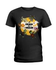 Trick Or Treat Halloween Ladies T-Shirt thumbnail