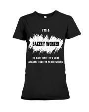 TEE BAKERY WORKER Premium Fit Ladies Tee thumbnail