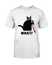 Black Cat what Classic T-Shirt front