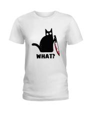Black Cat what Ladies T-Shirt thumbnail