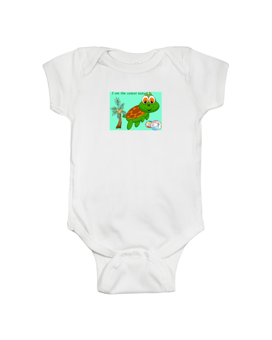 Turtle as the Cutest Baby Onesie