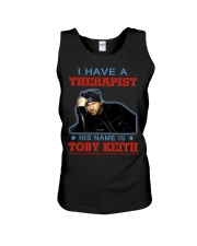 I HAVE A THERAPIST HIS NAME IS TOBY KEITH Unisex Tank tile