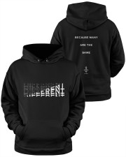 More Different Than Many  Hooded Sweatshirt apparel-hooded-sweatshirt-lifestyle-front-37