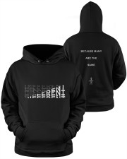 More Different Than Many  Hooded Sweatshirt apparel-hooded-sweatshirt-lifestyle-front-38