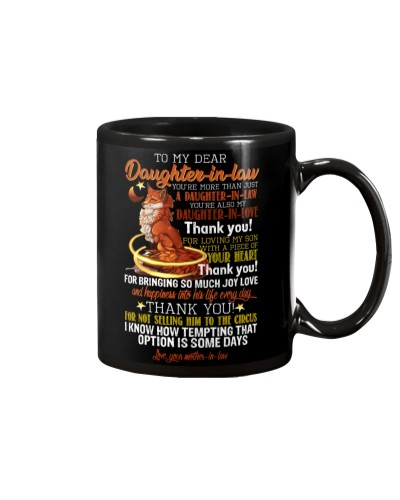 MUG - TO MY DAUGHTER-IN-LAW - FOX - CIRCUS