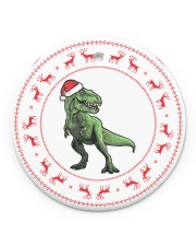 T-rex - Christmas - Circle Ornament Circle ornament - single (porcelain) front