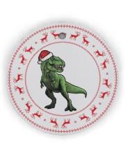 T-rex - Christmas - Circle Ornament Circle ornament - single (wood) thumbnail