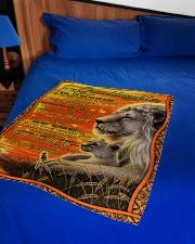 "Granddaughter - Just Do Your Best - Fleece Blanket Small Fleece Blanket - 30"" x 40"" aos-coral-fleece-blanket-30x40-lifestyle-front-02"