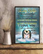 TO MY WIFE - PENGUIN - I LOVE YOU 16x24 Poster lifestyle-poster-3