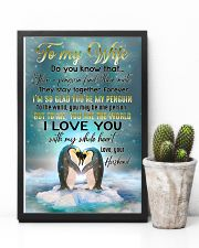 TO MY WIFE - PENGUIN - I LOVE YOU 16x24 Poster lifestyle-poster-8